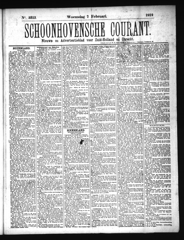 Schoonhovensche Courant 1912-02-07