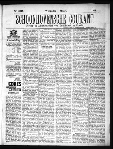 Schoonhovensche Courant 1911-03-01