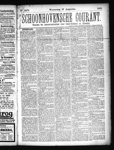 Schoonhovensche Courant 1913-08-27