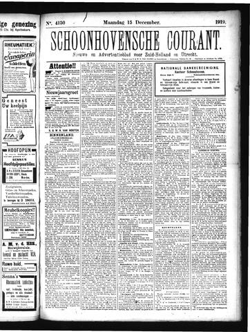 Schoonhovensche Courant 1919-12-15