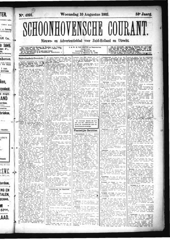 Schoonhovensche Courant 1921-08-10