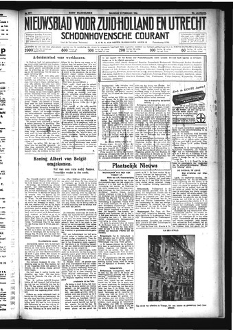 Schoonhovensche Courant 1934-02-19