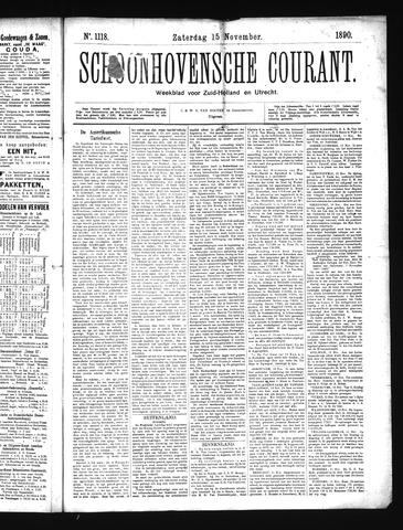 Schoonhovensche Courant 1890-11-15