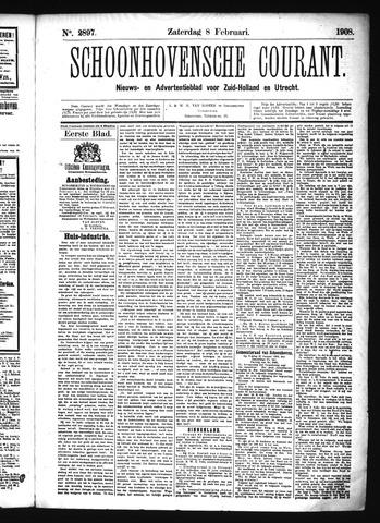 Schoonhovensche Courant 1908-02-08