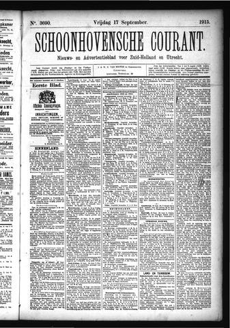 Schoonhovensche Courant 1915-09-17