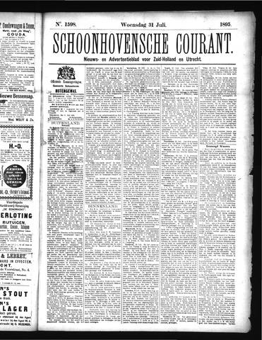 Schoonhovensche Courant 1895-07-31