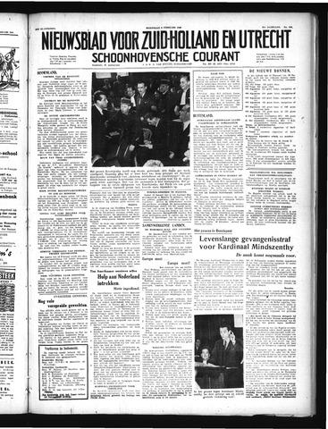Schoonhovensche Courant 1949-02-09