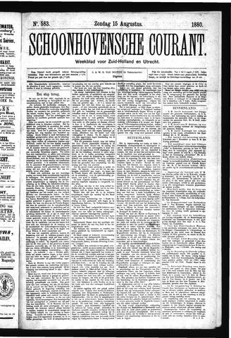 Schoonhovensche Courant 1880-08-15
