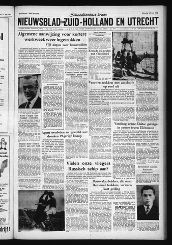Schoonhovensche Courant 1961-05-15