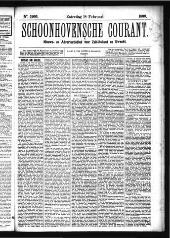 Schoonhovensche Courant 1899-02-18