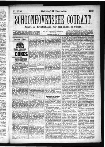 Schoonhovensche Courant 1910-12-17