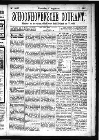 Schoonhovensche Courant 1911-08-05