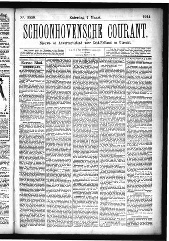 Schoonhovensche Courant 1914-03-07