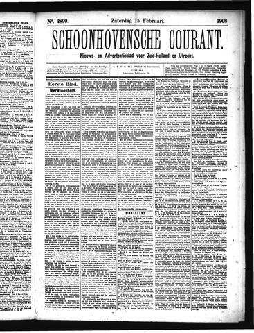 Schoonhovensche Courant 1908-02-15