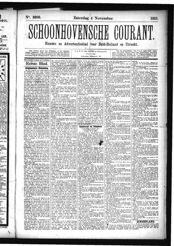 Schoonhovensche Courant 1911-11-04
