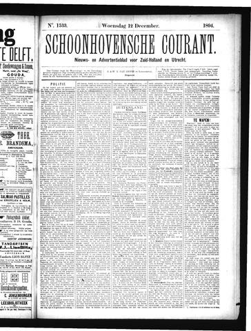 Schoonhovensche Courant 1894-12-12