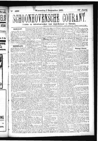 Schoonhovensche Courant 1920-12-01