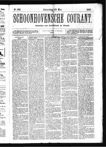 Schoonhovensche Courant 1886-05-29