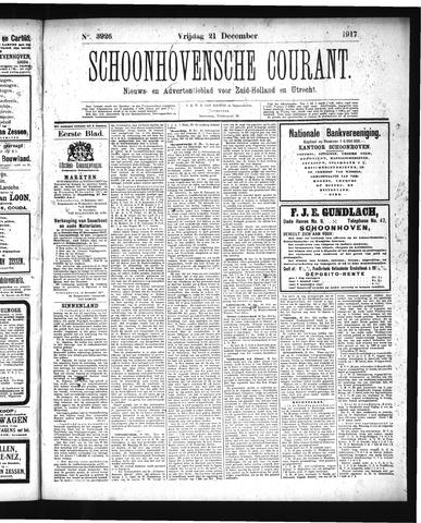 Schoonhovensche Courant 1917-12-21