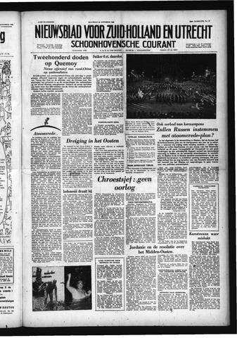 Schoonhovensche Courant 1958-08-25