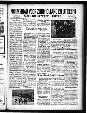 Schoonhovensche Courant 1950-11-13