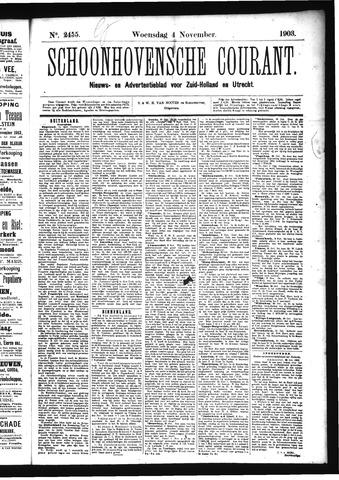Schoonhovensche Courant 1903-11-04