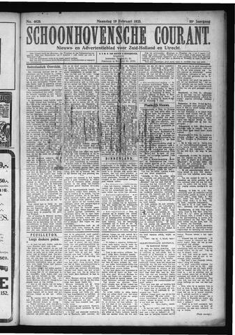 Schoonhovensche Courant 1923-02-19