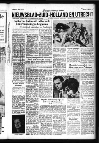 Schoonhovensche Courant 1962-08-06
