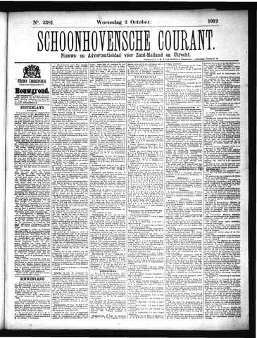 Schoonhovensche Courant 1912-10-02