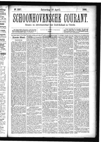 Schoonhovensche Courant 1892-04-16