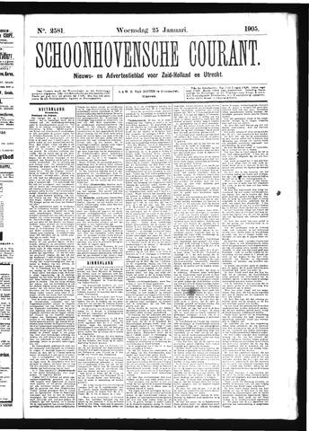 Schoonhovensche Courant 1905-01-25