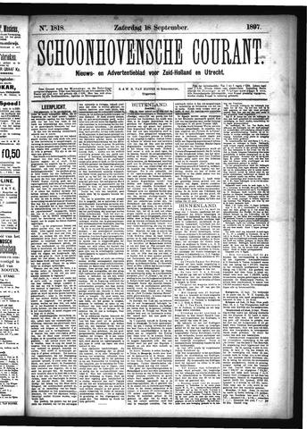 Schoonhovensche Courant 1897-09-18