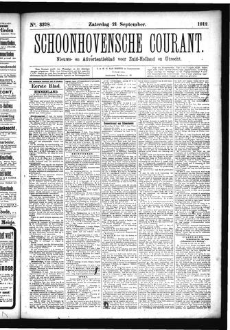 Schoonhovensche Courant 1912-09-21