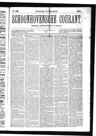 Schoonhovensche Courant 1886-11-13