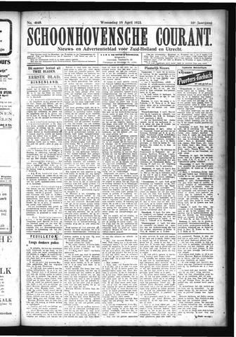 Schoonhovensche Courant 1923-04-18