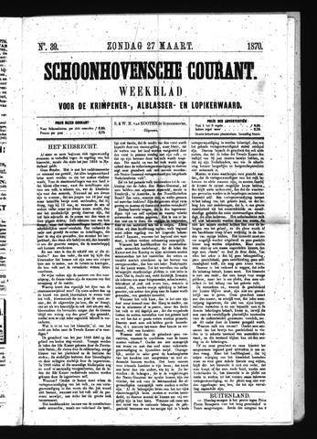 Schoonhovensche Courant 1870-03-27