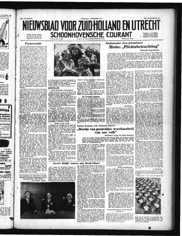 Schoonhovensche Courant 1950-11-08