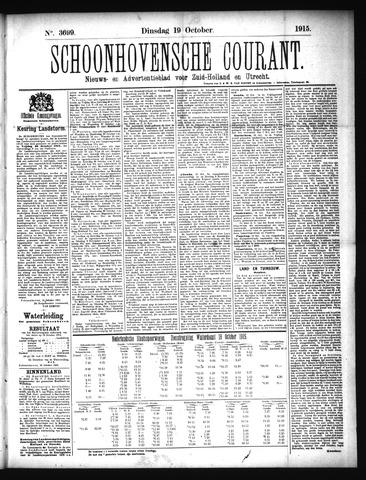 Schoonhovensche Courant 1915-10-19