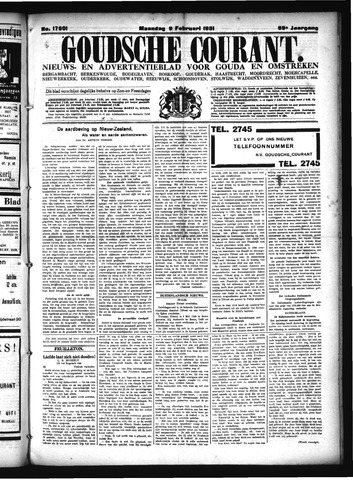 Goudsche Courant 1931-02-09