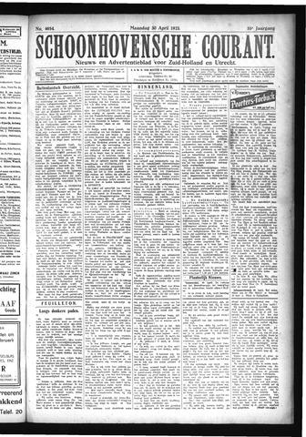 Schoonhovensche Courant 1923-04-30