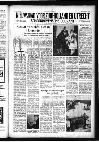 Schoonhovensche Courant 1956-11-14