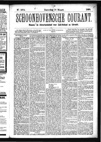 Schoonhovensche Courant 1899-03-18