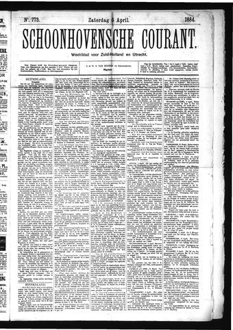 Schoonhovensche Courant 1884-04-05
