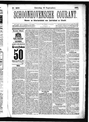 Schoonhovensche Courant 1908-09-12