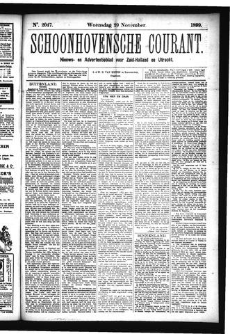 Schoonhovensche Courant 1899-11-29