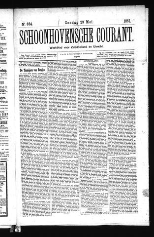 Schoonhovensche Courant 1881-05-29