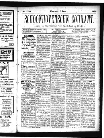Schoonhovensche Courant 1920-06-07