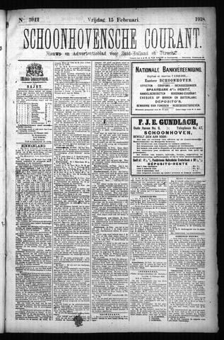 Schoonhovensche Courant 1918-02-15