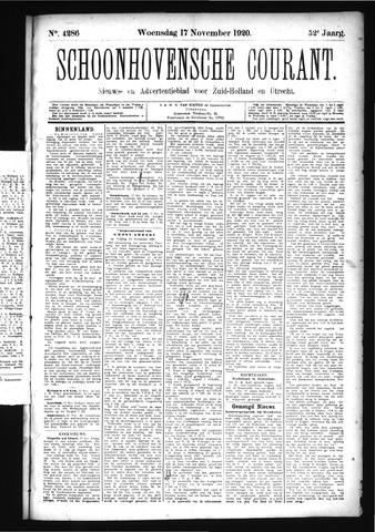 Schoonhovensche Courant 1920-11-17