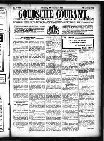 Goudsche Courant 1931-02-10